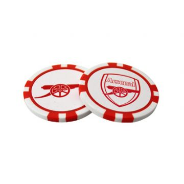Arsenal Poker Chip Golf Ball Markers